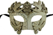 NEW Laser Cut Venetian Style Halloween Masquerade Mask for Costumes - Elegantly and Finely Detailed Egyptian Inspired- Silver Lining