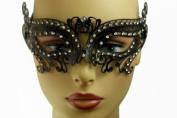 NEW Princess Classic Venetian Design Laser Cut Masquerade Mask - Elegantly Detailed w/ Gems