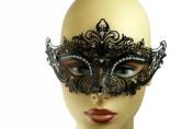 NEW Princess Venetian Design Laser Cut Masquerade Mask - Elegantly Detailed w/ Gems