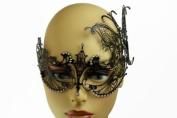 NEW Princess w/ Butterfly Venetian Design Laser Cut Masquerade Mask - Elegantly Detailed w/ Gems