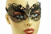NEW Swan Princess Venetian Design Laser Cut Masquerade Mask - Cleanly Detailed w/ Gems