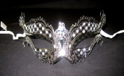 Sexy Silver with Diamonds Laser Cut Venetian Masquerad Mask