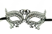 Swan Princess Classic Venetian Design Laser Cut Masquerade Mask - Elegantly Detailed w/ Gems