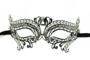 Swan Princess Classic Venetian Design Laser Cut Masquerade Mask - Elegantly Detailed w/ Gems