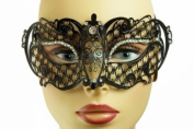 Swan Princess Venetian Design Laser Cut Masquerade Mask - Cleanly Detailed w/ Gems