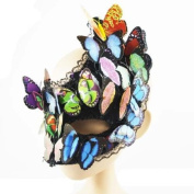 New Moon Mardigras 3D Butterfly Costume Masquerade Carnival Mask Drag Queen Show