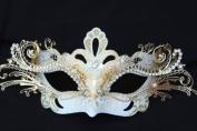 Snow White Dream Angel Venetian Masquerade Carnival Metal Laser Cut Mask