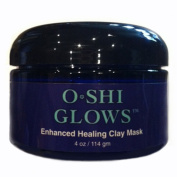 O*SHI GLOWS Enhanced Healing Clay Mask, 120ml Spa Quality Face Mask with Bentonite, Kaolin Clay, Aloe Vera and More; for Acne and Large Pores; Anti-ageing, Nourishing; Non-Greasy, Non-Drying Formula