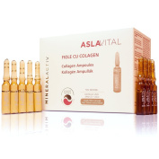 ASLAVITAL MINERALACTIV, Collagen Ampoules (Organic Goji Berry Extract/ 100% Natural Clay)
