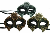 Classic Vintage Venetian Ancient Egyptian Inspired Masks Design Laser Cut Masquerade Mask for Mardi Gras Events or Halloween - 3pc Combo Set - Bronze, Silver & Gold