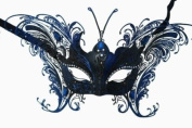 MAGICAL BLUE BUTTERFLY SPECIAL EDITION VENETIAN MASQUERADE MARDI GRAS MASK