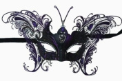 MAGICAL PURPLE BUTTERFLY SPECIAL EDITION VENETIAN MASQUERADE MARDI GRAS MASK