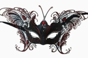 MAGICAL RED BUTTERFLY SPECIAL EDITION VENETIAN MASQUERADE MARDI GRAS MASK