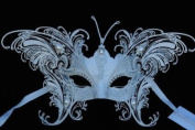 MAGICAL WHITE BUTTERFLY SPECIAL EDITION VENETIAN MASQUERADE MARDI GRAS MASK