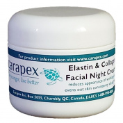Carapex Facial Night Cream with Anti-ageing Elastin & Collagen, All Natural Ingredients, 60ml