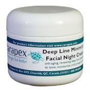 Carapex Facial Night Cream with Deep Line Minimizer, Anti-ageing Moisturiser, All Natural Ingredients, 60ml
