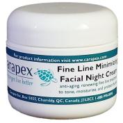 Carapex Facial Night Cream with Fine Line Minimizer, Anti-ageing Moisturiser, All Natural Ingredients, 60ml