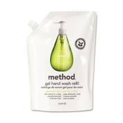 Method® - Refill for Gel Handwash, 1010ml Plastic Pouch, Green Tea & Aloe - Sold As 1 Each - Naturally-derived formula.