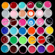 36 Colours Solid Pure Mix Colour UV Builder Gel Acrylic Set for Nail Art Tips
