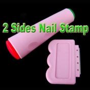 Nail Art DIY 2 Sides Stamping Stamp Tool Polish Image Scraping Scraper Set Kit