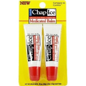 Chap Ice Medicated Balm - For Cold Sores, Fever Blisters & Chapped Lips, 2 pk,