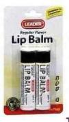 Leader Lip Balm SPF 4 Original 2 CT