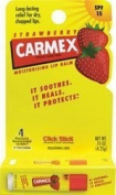 Carmex Strawberry Flavour Moisturising Lip Balm Stick SPF 15