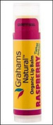 Organic Lip Balm Raspberry Graham's Natural .440ml Lip Balm