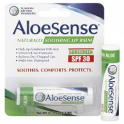AloeSense Naturally Soothing Lip Balm Sunscreen SPF 30, Fresh Mint 0.15 oz