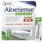 AloeSense Naturally Soothing Lip Balm Sunscreen SPF 30, Fresh Mint 0.15 oz