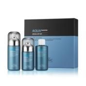 [SCINIC] Aqua Homme Men's Essence Water 180ml + Refill + Multi Fluid 140ml SET