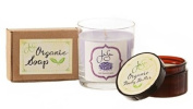 Jensan Classic Lavender Bath and Body Gift Set, Organic Soap, Soy Candle, Body Butter