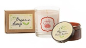 Jensan Timeless Romantic Rose Bath and Body Gift Set, Organic Soap, Soy Candle, Body Butter