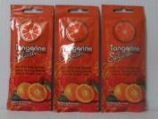 3 Packets Tangerine Splash DHA Free Bronzer Tanning Lotion 20ml each
