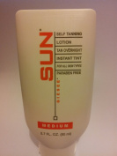 Sun Self Tanning Lotion Tan Overnight Instant Tint - Medium 80ml