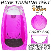 Pink Coloured Professional Airbrush and Turbine Spray Tanning Tent Booth with Nylon Carrying Bag