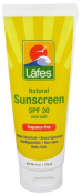 Lafe'S Natural Body Care, Sunscreen,Spf 20 -- 120ml