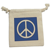 Peace Sign Symbol Blue Muslin Cotton Gift Party Favour Bags