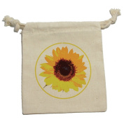 Sunflower - Birthday Wedding Shower Muslin Cotton Gift Party Favour Bags