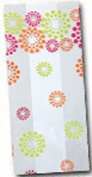 (10) Blooming Dots Birthday Party Shower Favour Treat Bags 4x2x9
