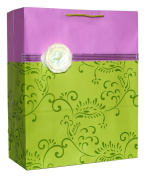 Hallmark's Gift Bag with Ivory Flower and Scroll Pattern | 3JHB 7 E