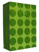 Hallmark's Lime Green Polka Dots Gift Bag - 3KHB 361J