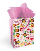 Hawaiian Gift Bag Island Yumi Pink Medium