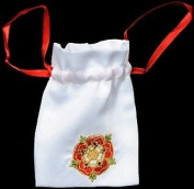 Gift Bag in a Mediaeval Tudor Rose Design. Beautifully embroidered Gift Bags, ideal for The Queen's Diamond Jubilee, London 2012 Olympic Games, seasonal festivals, special occasions, events and celebrations.