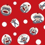Sock Monkey Jumbo Gift Wrap