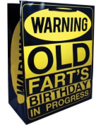 Warning Old Fart's Birthday in Progress Gift Bag - EDO-5990-376