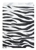 200 pcs Zebra Print Paper Gift Bags Shopping Sales Tote Bags 15cm x 23cm