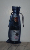 6x14 Organza Sheer Bags - Bottle/Wine Bags Gift Pouch - Navy Blue