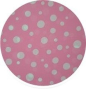 Pink Polka Dot Gift Wrap Bags with Silver Metallic Ties - Package of 8 - Reusable Biodegradable Plastic - 45cm By 48cm
