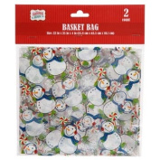 Christmas House Cellophane Basket Bags, 2-ct. Packs